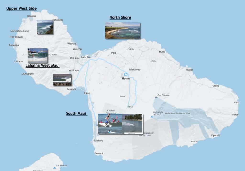 Maui Surf Map
